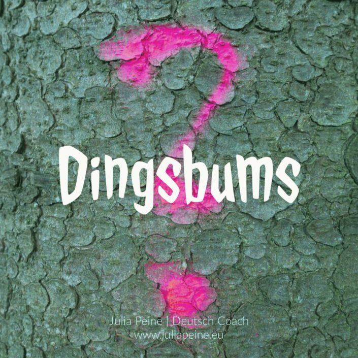 Dingsbums | De mooiste Duitse woorden