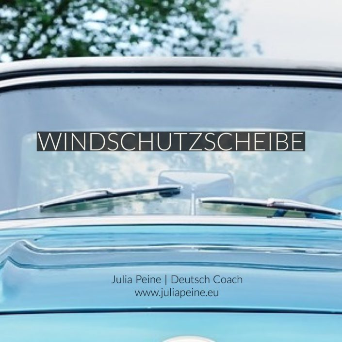 Windschutzscheibe | De mooiste Duitse woorden | Julia Peine Deutsch Coach | Utrecht | Leidsche Rijn