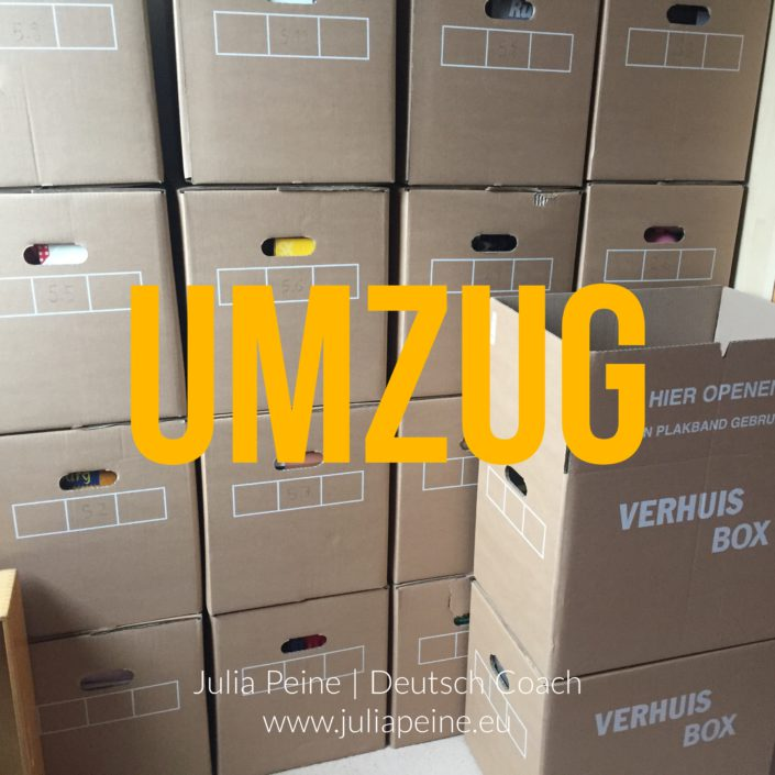 Umzug | De mooiste Duitse woorden | Julia Peine Deutsch Coach | Utrecht | Leidsche Rijn