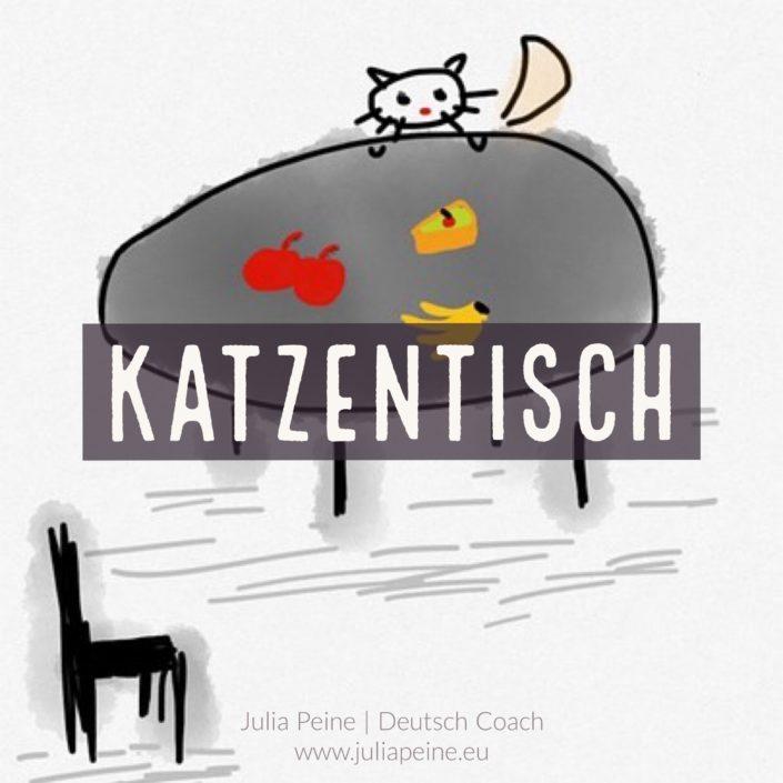 Katzentisch | De mooiste Duitse woorden | Julia Peine Deutsch Coach | Utrecht | Leidsche Rijn